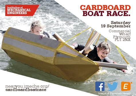 cardboard boat test cardboard boat race