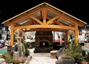 backyard pavilion kits outdoor living room with a
