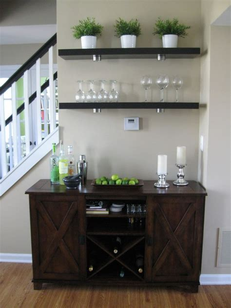living room bar area ikea lack shelves world market verona buffet for the home pinterest