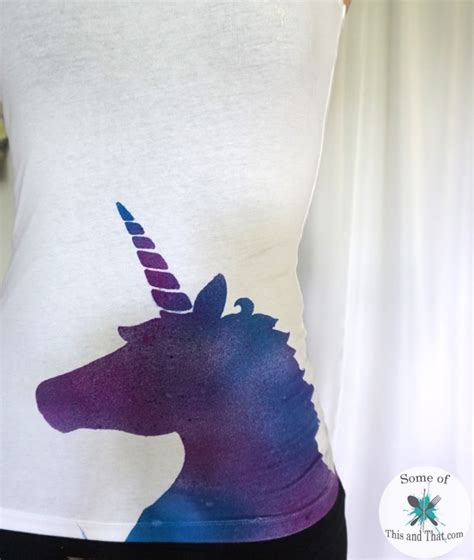 diy galaxy unicorn shirt some of this and that