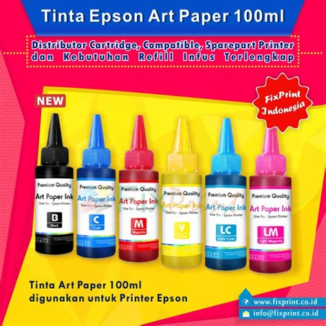 Tinta Printer Paper Jual Tinta Printer Paper 100ml Premium Epson Artpaper