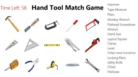 Image Gallery names of hand tools