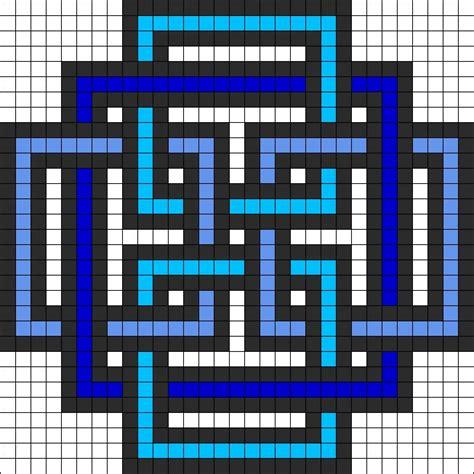 geometric square perler bead pattern hama perler