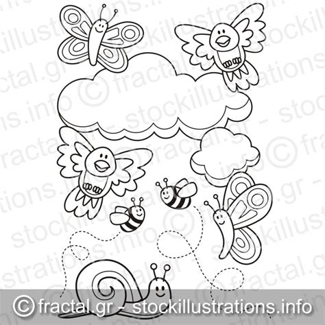 Baby Animals Coloring Book baby animals coloring book page stockillustrations info