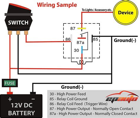 relay switch circuit diagram 5 pin relay diagram negative trigger 36 wiring diagram