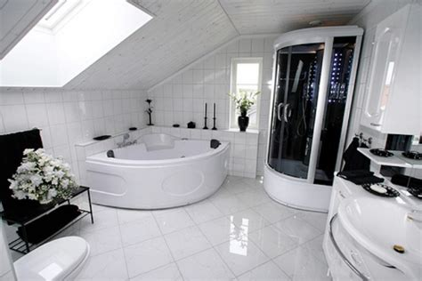 Modern White Bathroom Ideas by Modern White Tile Bathroom Flooring Home Interiors
