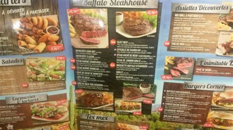Buffalo Grill Menu by Menu Picture Of Buffalo Grill Nanteuil Les Meaux