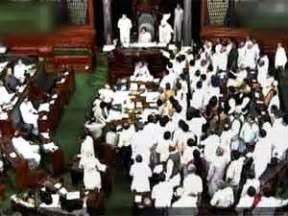 thrice lok sabha member samajwadi party quota bill uproar in lok sabha house