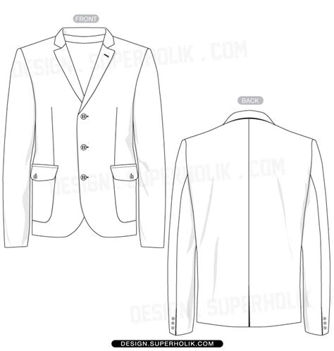 sports jacket template mock up hellovector