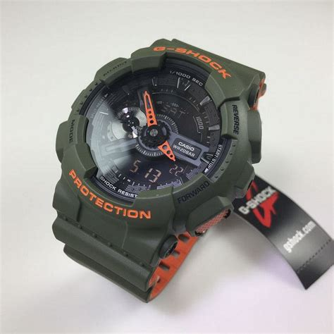 Casio Army casio g shock analog digital army green sports