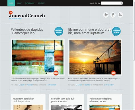 drupal themes latest journal crunch drupal org