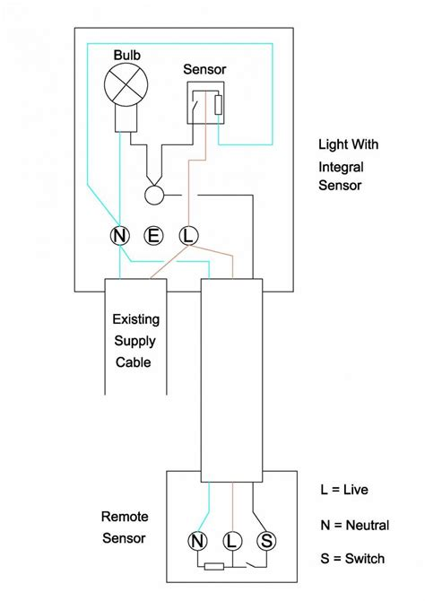 pir sensor light wiring diagram circuit and schematics