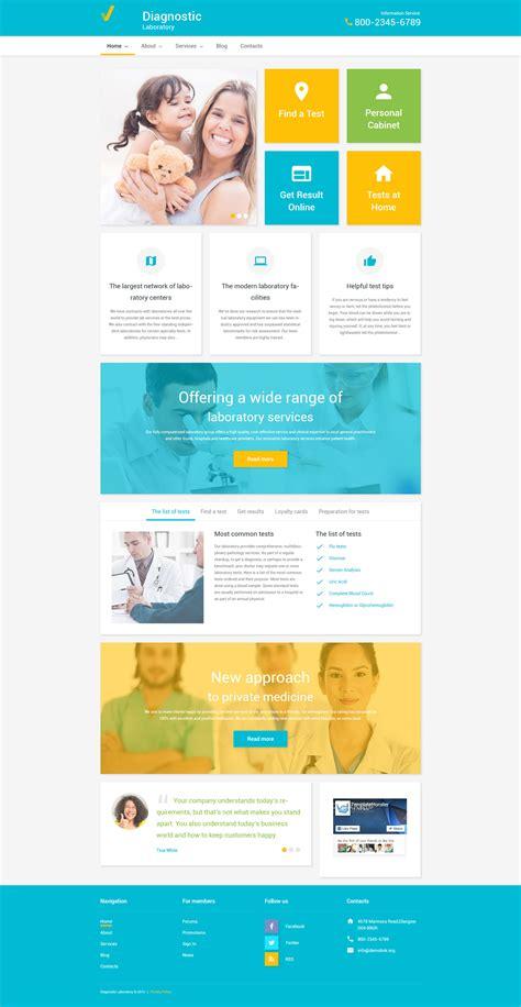 Health Care Wordpress Theme Laboratory Website Templates