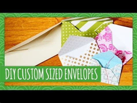 Handmade Designer Envelopes - diy custom sized envelopes weekly recap hgtv handmade