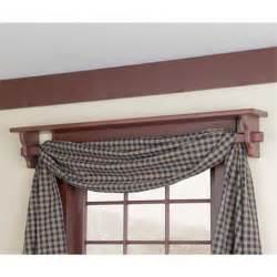 shelf above window doubles as a curtain rod colonial