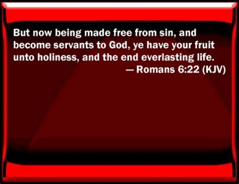 fruit unto holiness bible verse powerpoint slides for romans 6 22