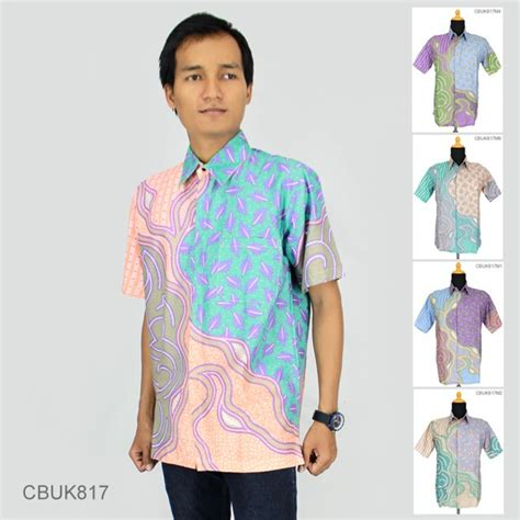 Batik Soft Daun Almas baju batik kemeja soft motif daun alur kemeja lengan pendek murah batikunik