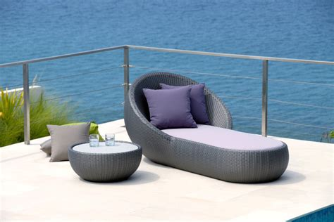 round chaise lounge outdoor lebello modern round outdoor chaise lounge modern