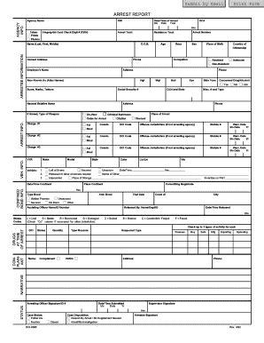 Form Arrest Fill Online Printable Fillable Blank Pdffiller Arrest Report Template