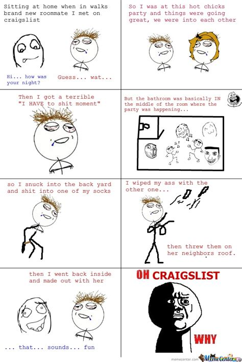 Gay Roommate Meme - roommate from craiglist by ben meme center