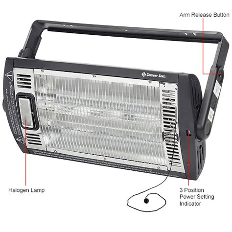comfort zone infrared heater parts heaters portable electric comfort zone 174 heater ceiling
