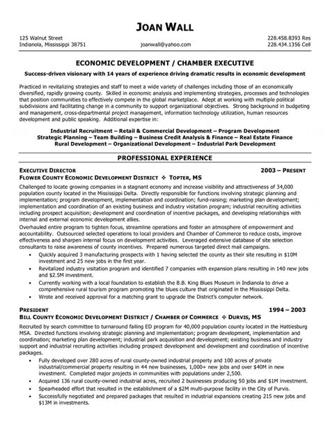 Non Profit Executive Resume