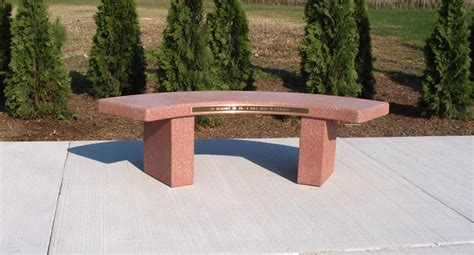 memorial concrete benches curved memorial bench b5900m doty concrete