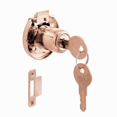 prime line brass keyed cabinet drawer lock u 10667 the