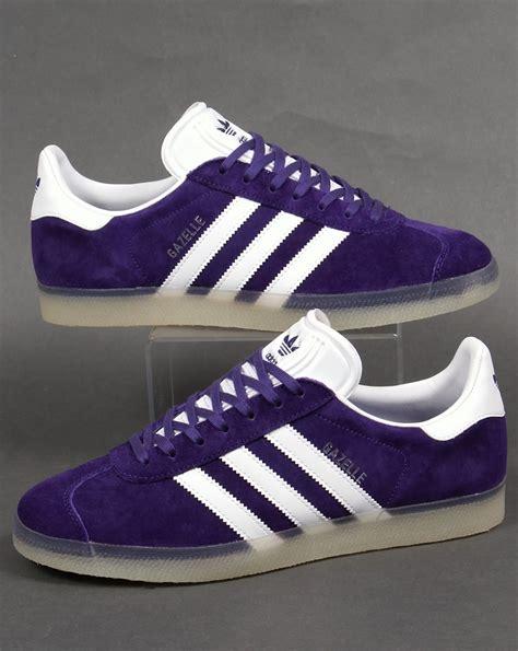 Adidas Gazele adidas gazelle trainers purple white originals suede