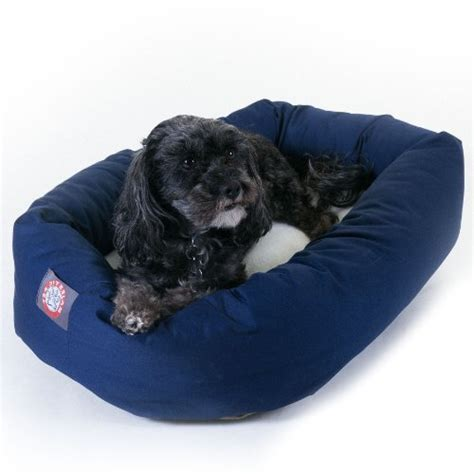 small dog beds amazon blue small bagel donut dog bed