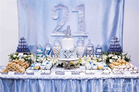 21st Decorations by Table Decorations For 21st Birthday Image