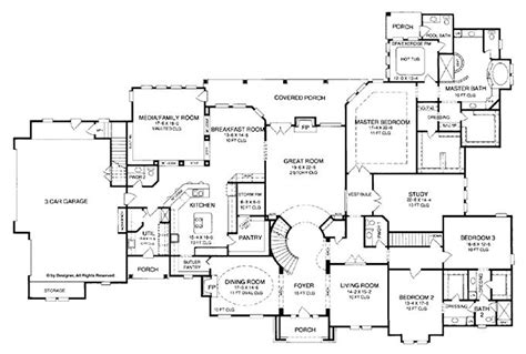country living floor plans 4 5 bedroom one story house plan with exercise room office formal living family room floor