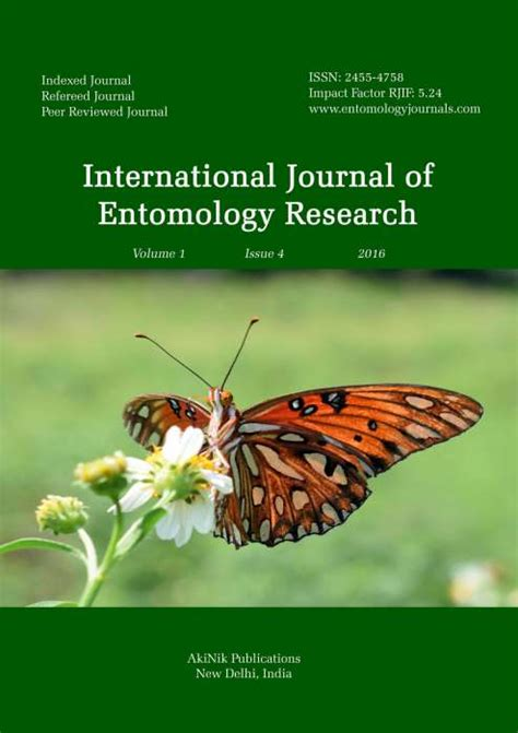 Mba In Entomology by Buy International Journal Of Entomology Research
