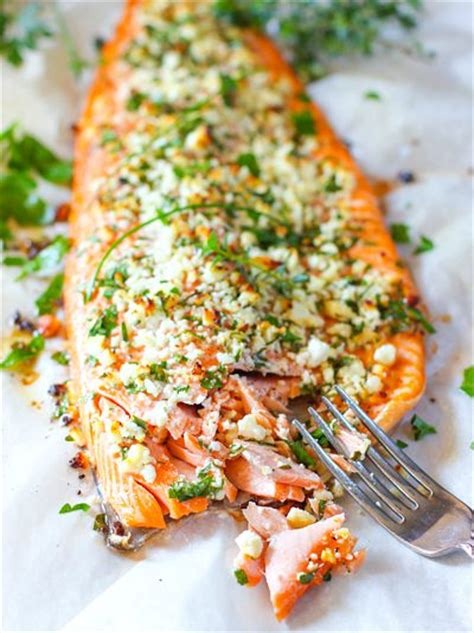 Lovely Little Kitchen feta and herb crusted salmon