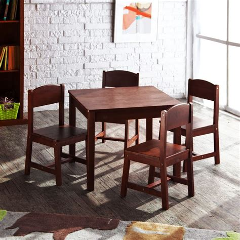 new kidkraft sturdy farmhouse wooden table and chair set