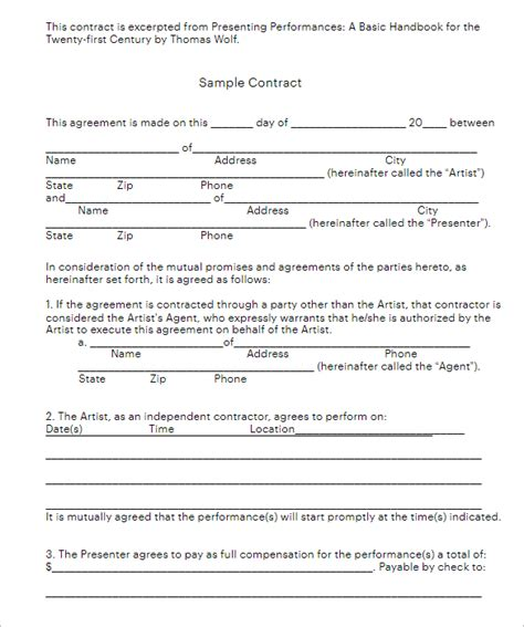 construction contract form templates