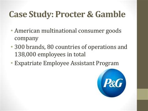 Procter And Gamble Mba Leadership Program by Expatriate Management Hrm