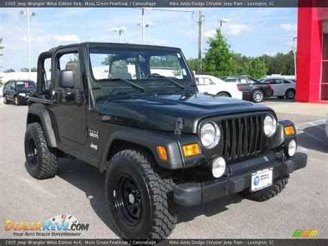 Jeep Willys Edition 2005 Jeep Wrangler Willys Edition 4x4 Moss Green Pearlcoat