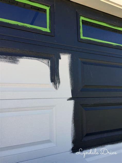 faux garage door painting