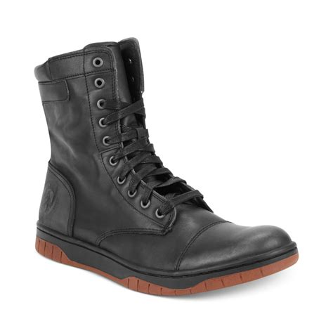 zip boots diesel tatradium basket butch zip boot in black for lyst