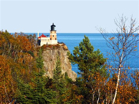 Split Rock Lighthouse Cabins by Shore Lake Superior