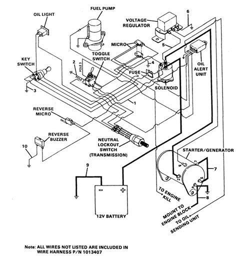 1991 clubcar electric golf cart wiring diagram circuit