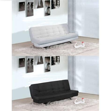 divano due colori divano letto eleonora 116x92x43 bianco o nero in ecopelle