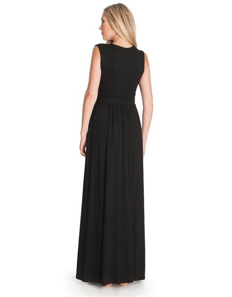 Emory Serafinne black maternity maxi dress seraphine