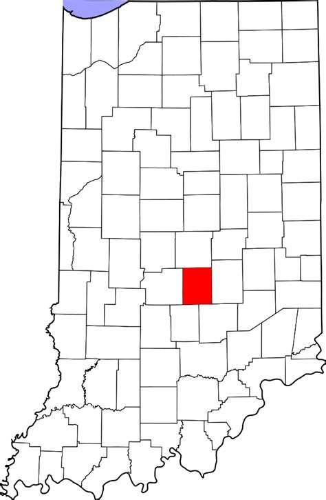 Johnson County Search File Map Of Indiana Highlighting Johnson County Svg Facts For Kidzsearch