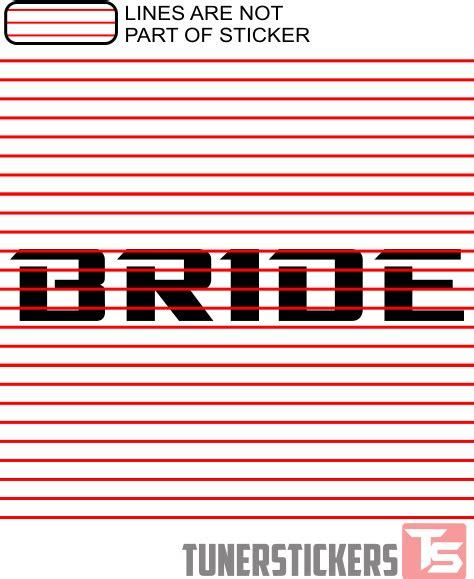 Sticker Tuning Logo by Bride Logo Tuner Stickers