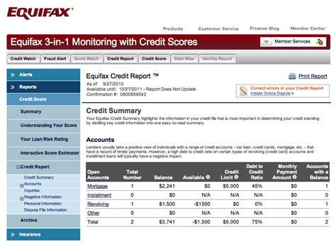 Credit Report Form Equifax Disputing Credit Report Could Get Easier New Totpi