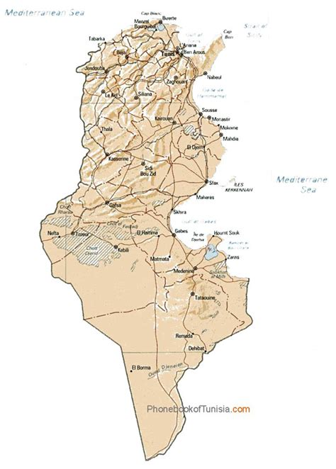 africa map tunisia detailed relief and administrative map of tunisia tunisia