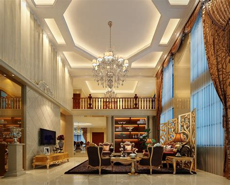 luxurious gypsum ceiling decoration for villa living room villa living room furniture and lighting by neo classical