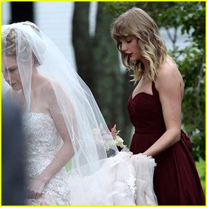 taylor swift white dress at wedding taylor swift serves as bridesmaid at bff abigail s wedding